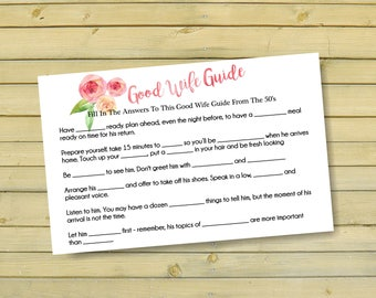 Bridal scattergories lingerie shower games country wedding diy bridal shower floral wedding shower gamesgood wife guide game bachelorette party game printables instant download shower game br62 solutioingenieria Gallery