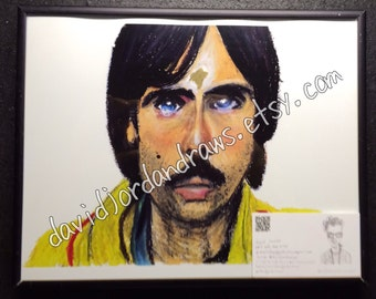 Jack Whitman of Darjeeling Limited oil pastel print