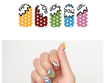 Tattify Pop Art Nail Wraps - Comic Book (Set of 22)