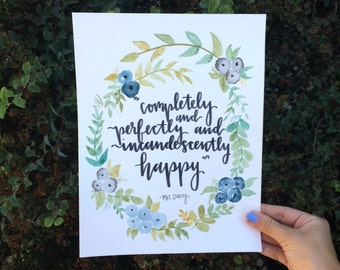 Completely and Perfectly and Incandescently Happy - Mrs. Darcy [Digital Download]