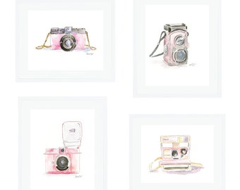 The Pink Camera Series Giclee Prints