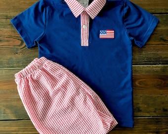 Americana Polo Short Set