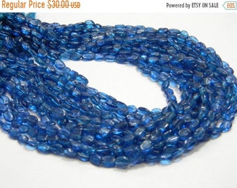 14 inch strand-- 5x7 mm approx-- Good Quality Neon Apatite Plain Oval Beads