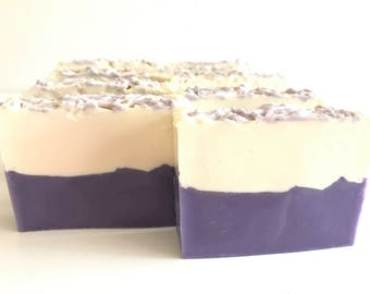 Lavender and Sparkling Limoncello Layered Cold Process Soap