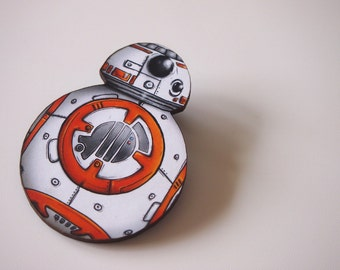 BB-8 - Star Wars Droid - Laser Cut Wood Brooch