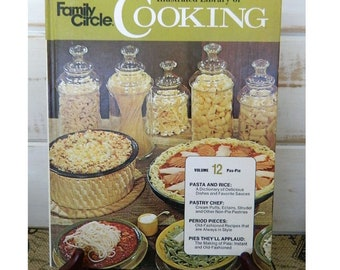 FAMILY CIRCLE Illustrated Library of COOKING -  Volume 12 - 1972 Vintage Cookbook