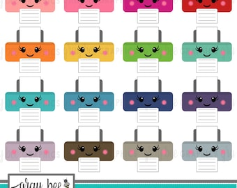 SALE! Printer-Kawaii Printer- Clipart Set, Commercial Use, Instant Download, Digital Clipart, Digital Images- MP207