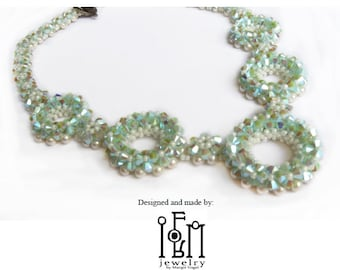 Beaded Necklace Tutorial - Something Blue Necklace and Earring