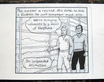 "The survivor is revived... Original art from ""Intruder 9000"" by Lasky"
