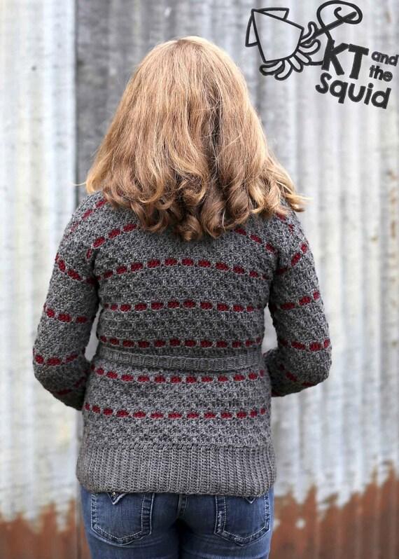 Crochet Cardigan Pattern Womencrochet Sweater Pattern Knit Look