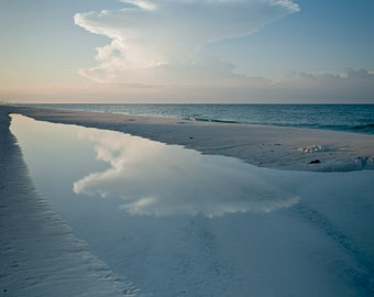 Morning Sky and Tide Pool, Inlet Beach Florida, 2009