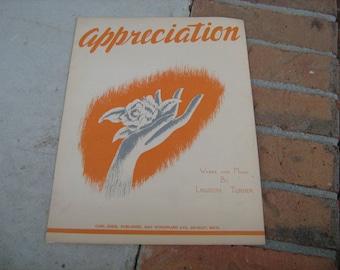1945 sheet music (  appreciation )