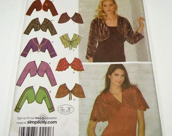 Simplicity Misses' Boleros And Capelets Pattern 3921 Size 8, 10, 12, 14, 16