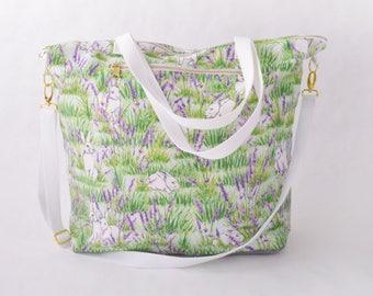 Weekender Tote - Bunny and Lavender