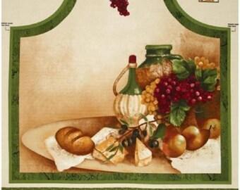 "Apron Panel ""Vino Bellissimo"" by Wilmington Prints"