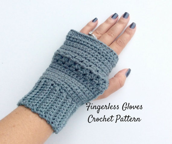 Easy Fingerless Gloves Crochet Pattern Beginners Wrist Warmer