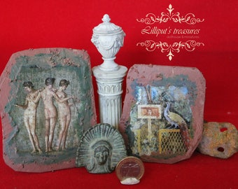 Dollhouse miniature Pompeian Fresco