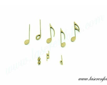 Set of music notes for your fingertips