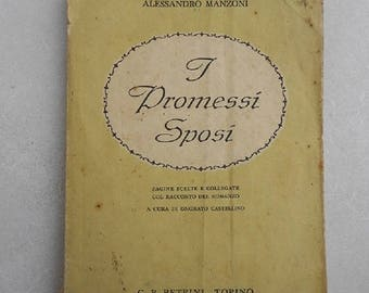 Vintage Book, betrothed, Old book, Alessandro Manzoni