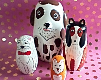 Set of Matryoshka Dog Nesting