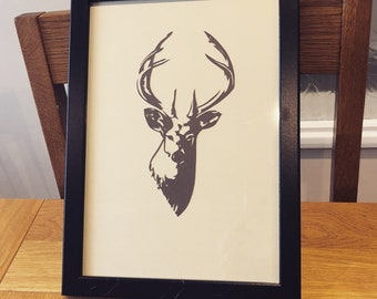 Handsome stag papercut