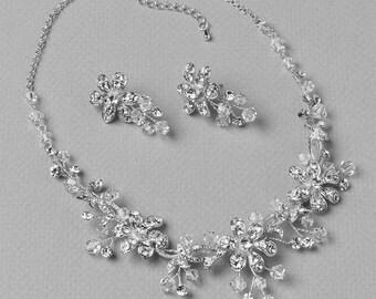 Crystal Wedding Jewelry Set, Bridal Jewelry Set, Silver Wedding Jewelry Set, Rhinestones Jewelry Set, Swarovski Crystal Jewelry Set ~JS-1667