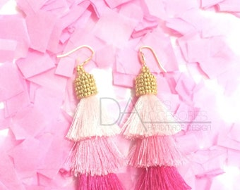 Pink Tassel and Gold