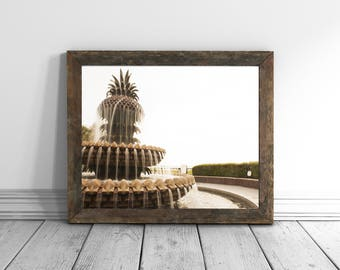 Pineapple Print Art Charleston Pineapple Prints Pineapple Decor  Charleston SC Photography Wall Art Pineapple Tropical Prints Art