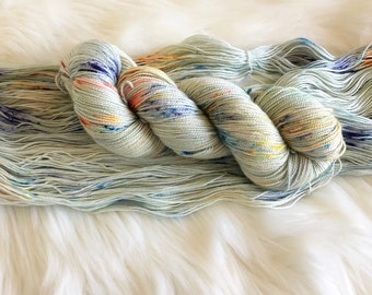 Tea Time Hand Dyed Fingering Weight Yarn for Knitting and Crochet