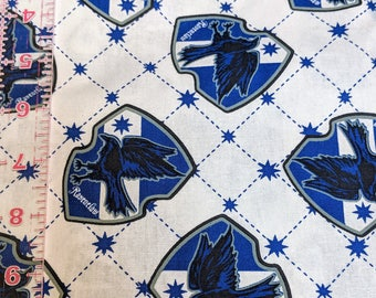 Harry Potter Fabric - Ravenclaw Fabric - Cotton Quilting Fabric - By the yard fabric