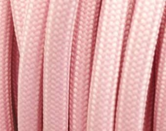 Pastel pink textile cable 2 strands - 0,75mm