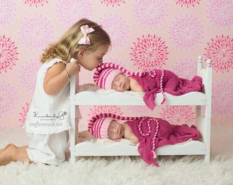 Mom to Be Gift for Baby Shower Gift for Twins * Photography Props * Newborn Photo Props * Baby Doll Bed * Posing Beds * DIY Baby Beds