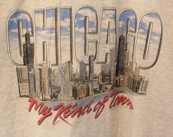 """Vintage '00 Chicago """"My Kind of Town"""" Tee - L"""