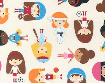 Sports Kids Girls Fabric - Park - sold by the 1/2 yard