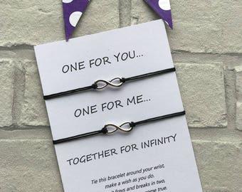Infinity Wish Bracelet - Infinity String Bracelet - Love Island Infinity Bracelet - Infinity Charm Bracelet - Infinity Charm Bracelet