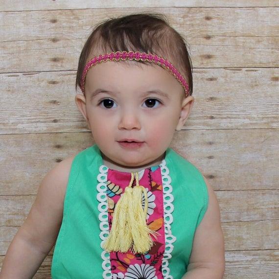 Pink Baby Headband, Pink Headband, Headband for Newborn, Perfect for Newborn, Infant Headbands, Pink Headpiece
