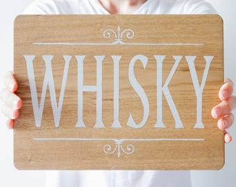 Hand Painted Wooden Whisky Sign