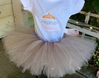 Grandmas princess, baby tutu set, infant clothing set, toddler clothing, toddler shirt, kids, shirt, girls shirt, baby one piece, shirt