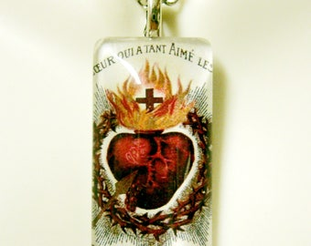 Sacred heart of Christ pendant with chain - GP12-032