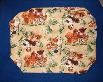 Set of 4 Puppy Friends Placemats