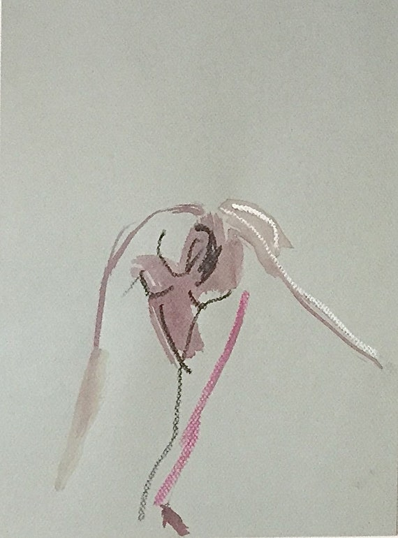 Nude painting of One minute pose 113.8 nude art, original, gesture sketch by Gretchen Kelly