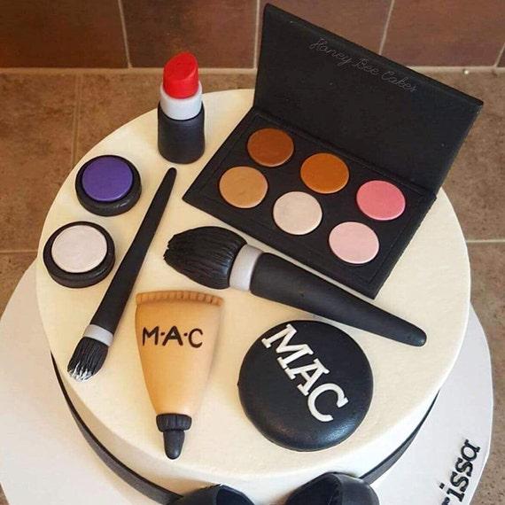 Makeup Cake Toppers from ilovehoneybeecakes on Etsy Studio