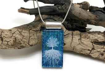 Dichroic glass pendant, dichroic glass jewelry, dichroic glass, fused glass, handmade fused glass, glass jewelry