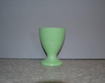 McKee Jadite Footed Tumbler Egg Cup