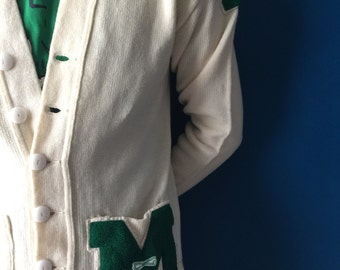 """Vintage Varsity letter sweater """"M"""", small"""