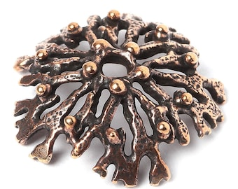 Bead cap 2833(1). Nature Bronze Findings Handmade Metalwork. Designed and made by Anna Bronze