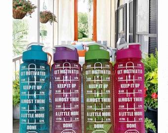 Water Bottle Tracker, Inspirational Water Bottle, Water Intake Tracker, 24 oz Water Bottle, Get Motivated