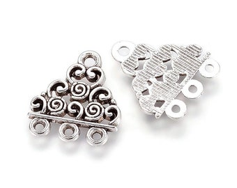 Connector silver triangular color 3 holes