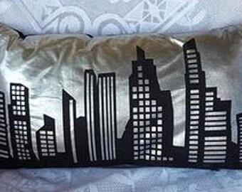 Clearance Cushion Cushion Cover Silver City Lights Cushion, Home Decor, Decorative Pillow, Cushion, Throw Pillow