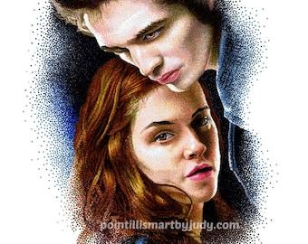 Edward and Bella art print